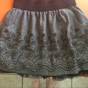 Skirt with pockets. Super comfy.